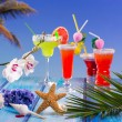 Cocktails margarita sex on the beach colorful tropical — Stock Photo #25355601