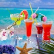 Cocktails margarita sex on the beach colorful tropical — Stock Photo #25355653
