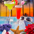 cocktails margarita sex on the beach colorful tropical — Stock Photo