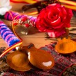 Espana typical from Spain with castanets flamenco elements - Stockfoto