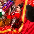 Flamenco woman with bullfighter and typical Spain Espana - Stock Photo