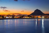Alicante Javea sunset beach night view — Stock Photo