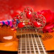 Cassic spanish guitar with flamenco elements - Foto Stock