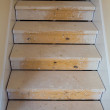 Wooden stairs in new house construction — Stock Photo