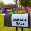 Garage sale in an american weekend on the yard — Stock Photo #26185423