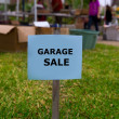 Garage sale in an american weekend on the yard — Foto Stock