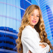 Fashion student girl as businesswoman portrait — Foto de Stock