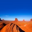 Monument Valley West and East Mittens and Merrick Butte — Stock Photo