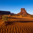 Stock Photo: Monument Valley West Mitten Butte Utah Park