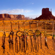 Stock fotografie: Dreamcatcher from Navajo Monument West Mitten Butte