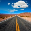 Stock Photo: Never ending road to Death Valley California