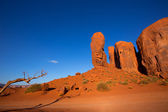 Monument Valley The Thumb Cly butte Utah — Stock Photo