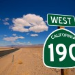 Desert Route 190 hwy Death Valley California road sign — Stock Photo