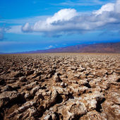 Devils golf course Death Valley salt clay formations — Stock Photo