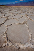 Badwater Basin Death Valley salt formations — Stock Photo