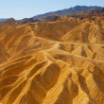 Death Valley National Park California Zabriskie point — Stock Photo