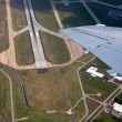 Airport lannding road view from aerial view — Stock Photo