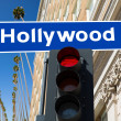 Stock Photo: Hollywood Boulevard sign illustration on palm trees