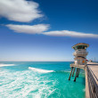 Huntington beach main lifeguard tower Surf City California — Stock Photo