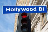 Hollywood Boulevard sign illustration California — Stock Photo