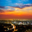 Downtown LA night Los Angeles sunset skyline California — Stock Photo #31990295