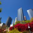Los Angeles LA downtown at Hill street — Stock Photo