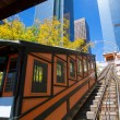 Stock Photo: Los Angeles Angels flight funicular in downtown