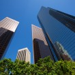 LA Los angeles downtown skyscrapers buildings — Stock Photo