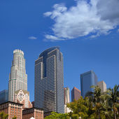 LA Downtown Los Angeles Pershing Square palm tress — Stock Photo