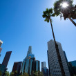 Downtown LA Los Angeles skyline California from 110 fwy — Stock Photo #32003553