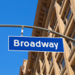 Broadway street Los Angeles Road sign  — Stock Photo