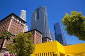 LA Downtown Los Angeles Pershing Square palm tress — Stock Photo