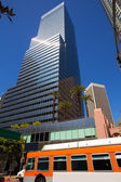 Downtown LA Los Angeles skyline California with traffic — Stock Photo