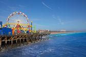 Santa Moica pier Ferris Wheel in California — Stock Photo