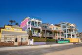 Santa Monica California beach colorful houses — Stock Photo