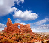 Arches National Park Turret Arch in Utah USA — Stock Photo