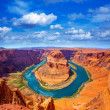 Stock Photo: ArizonHorseshoe Bend meander of Colorado River