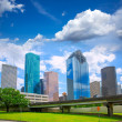 Houston Texas Skyline modern skyscapers and  blue sky — Stock Photo