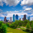 houston texas skyline with modern skyscapers — Stock Photo