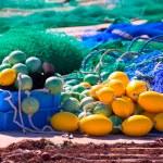 Fihing tackle in Formentera Mediterranean islands — Stock Photo