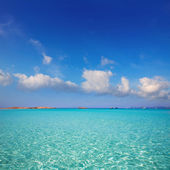 Illetes Illetas beach in Formentera Balearic Islands — Stock Photo