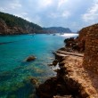 Ibiza Port de Benirras at Balearic Islands — Stock Photo
