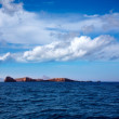 Ibiza Islas bledas Beldes islands with lighthouse — Stock Photo