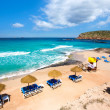 Ibiza Cala Conta Comte beach in Sant Josep — Stock Photo