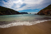 Ibiza Cala Benirras beach in san Joan at Balearic — Stock Photo