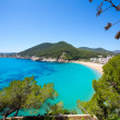 Ibiza caleta de Sant Vicent cala San vicente san Juan — Stock Photo