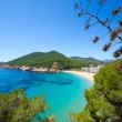 Ibiza caleta de Sant Vicent cala San vicente san Juan — Stock Photo #32944525