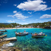 Ibiza Cala Vedella Vadella in Sant Josep at Balearics — Stock Photo