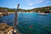 Ibiza Cala Vedella Vadella in Sant Josep at Balearics — Stock Photo