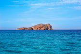 Ibiza Esparto Island view from sea in Balearic — Stock Photo